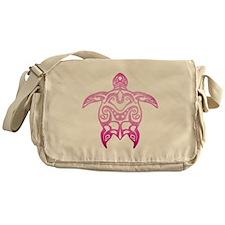 Pink Tribal Turtle Messenger Bag