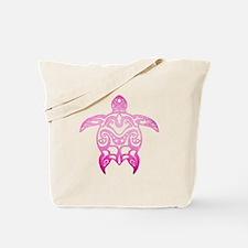 Pink Tribal Turtle Tote Bag