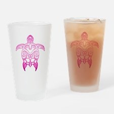 Pink Tribal Turtle Drinking Glass