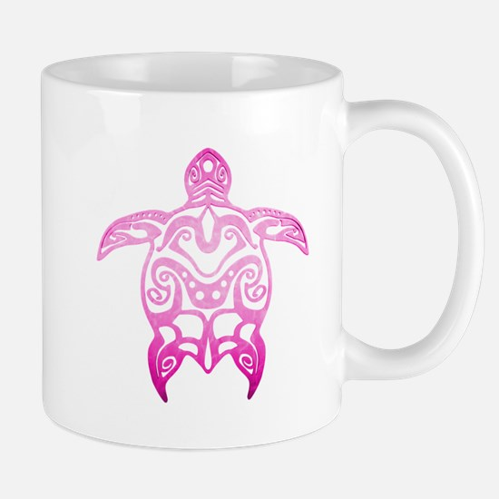 Pink Tribal Turtle Mugs