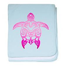 Pink Tribal Turtle baby blanket