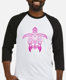Pink Tribal Turtle Baseball Jersey