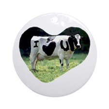 I Love You Cow Ornament (Round)