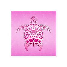 Pink Polynesian Turtle Sticker