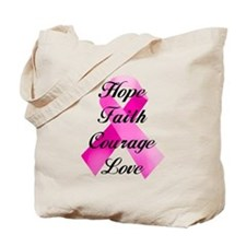 Pink Ribbon Tote Bag