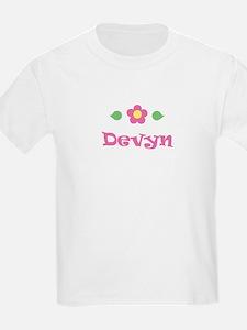 "Pink Daisy - ""Devyn"" Kids T-Shirt"