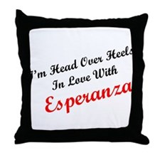 In Love with Esperanza Throw Pillow