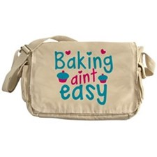 Baking aint EASY! with cute cupcakes Messenger Bag