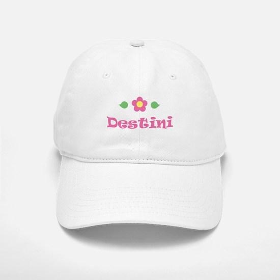 "Pink Daisy - ""Destini"" Baseball Baseball Cap"