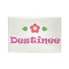 "Pink Daisy - ""Destinee"" Rectangle Magnet"