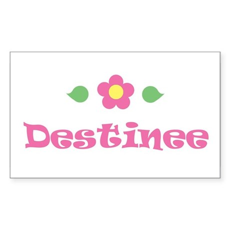 "Pink Daisy - ""Destinee"" Rectangle Sticker"