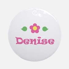 """Pink Daisy - """"Denise"""" Ornament (Round)"""