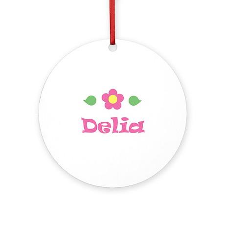 """Pink Daisy - """"Delia"""" Ornament (Round)"""