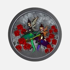 Gothic Rock Fairy Fantasy Art Wall Clock