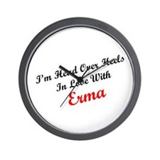In Love with Erma Wall Clock