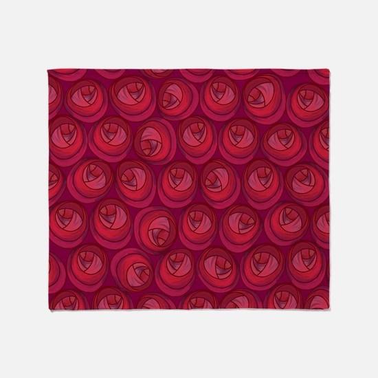 Mackintosh Roses Art Nouveau Pattern Throw Blanket