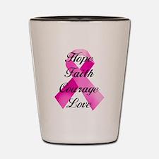 Pink Ribbon Shot Glass