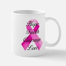 Pink Ribbon Mugs