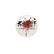 Virtual Zombie Walk for St. Baldrick's Mini Button