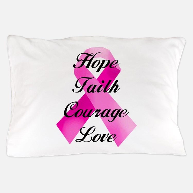 Pink Ribbon Pillow Case