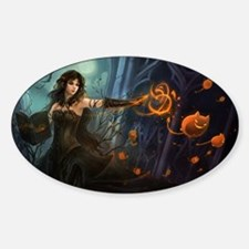 Halloween Witches Spell Sticker (Oval)