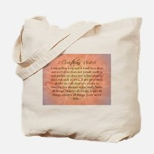 1 Corinthians Love Bible Verse Tote Bag