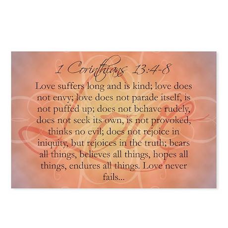 1 Corinthians Love Bible Postcards (Package of 8)