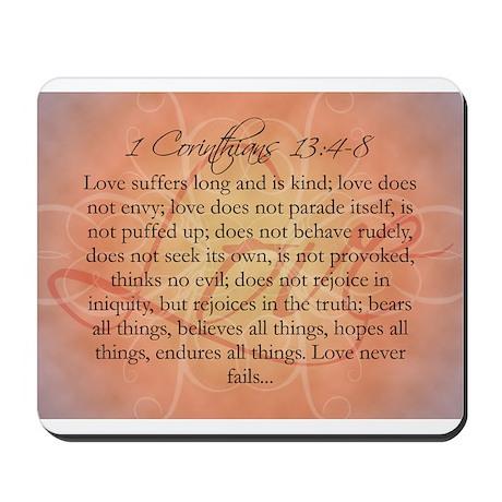 1 Corinthians Love Bible Verse Mousepad