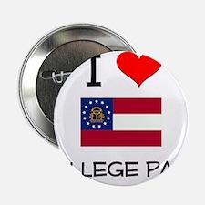 "I Love COLLEGE PARK Georgia 2.25"" Button"