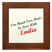 In Love with Emilia Framed Tile