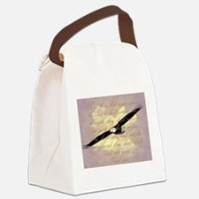 Wings as Eagles Bible Verse Canvas Lunch Bag