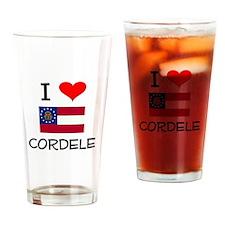 I Love CORDELE Georgia Drinking Glass