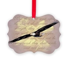 Wings as Eagles Bible Verse Ornament