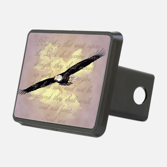 Wings as Eagles Bible Vers Hitch Cover