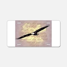 Wings as Eagles Bible Verse Aluminum License Plate