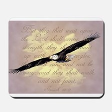 Wings as Eagles Bible Verse Mousepad