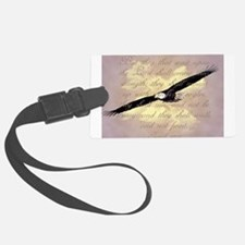 Wings as Eagles Bible Verse Luggage Tag