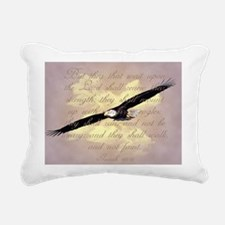 Wings as Eagles Bible Ve Rectangular Canvas Pillow