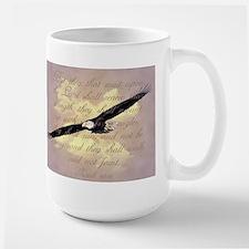 Wings as Eagles Bible Verse Large Mug