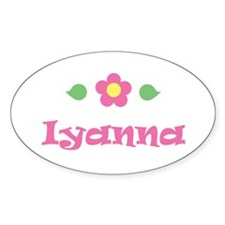 "Pink Daisy - ""Iyanna"" Oval Decal"