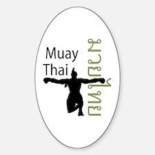 Muay Thai Oval Decal