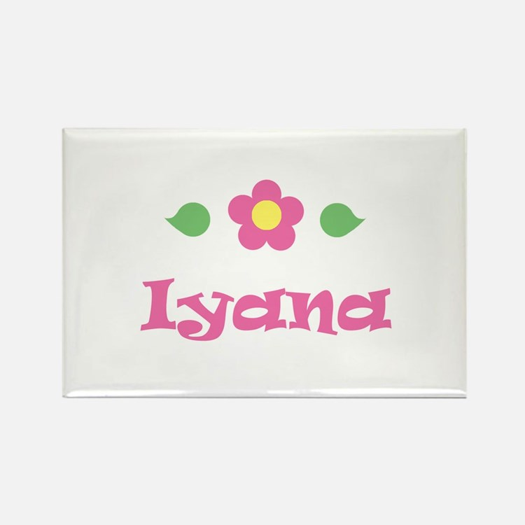 """Pink Daisy - """"Iyana"""" Rectangle Magnet"""