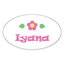 "Pink Daisy - ""Iyana"" Oval Decal"