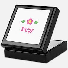 "Pink Daisy - ""Ivy"" Keepsake Box"