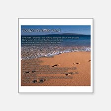 Footprints in the sand Sticker