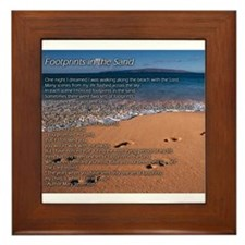Footprints in the sand Framed Tile