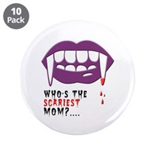 "Vampire Mom 3.5"" Button (10 pack)"