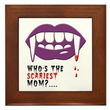 Vampire Mom Framed Tile