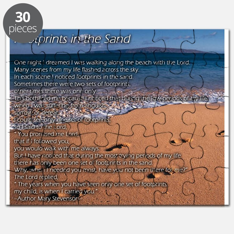 Footprints in the sand Puzzle
