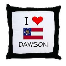 I Love DAWSON Georgia Throw Pillow